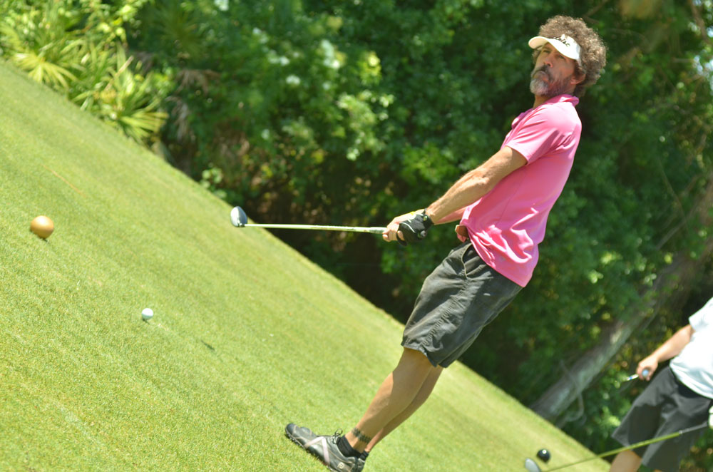 Player Teeing Off